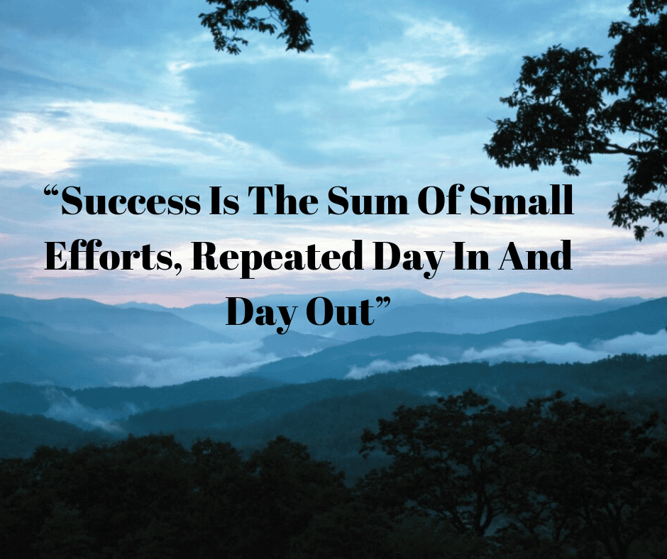The Key To Success Is Small Daily Actions Compounded Over Time